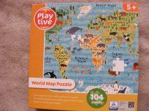28.03.2018 P uzzle World Map 104 5+