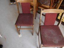 Krzesła drewniane 2 szt. komplet